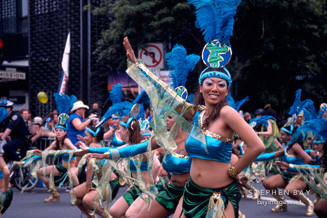Dancers. Carnaval's grand parade. San Francisco.