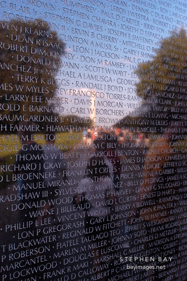 Vietnam Veteran's Memorial Wall. Washington, D.C.
