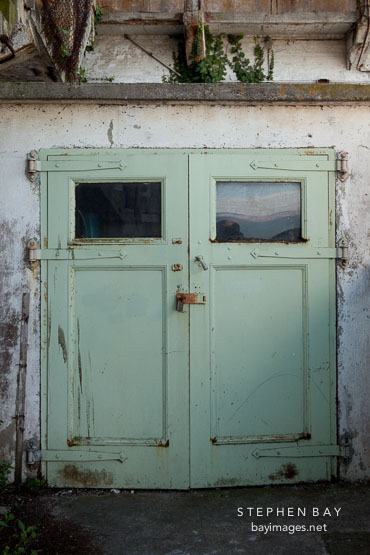 Green doors. Alcatraz, California.