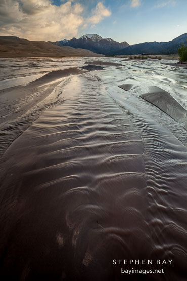 Rippling waves in Medano Creek. Great Sand Dunes NP, Colorado.