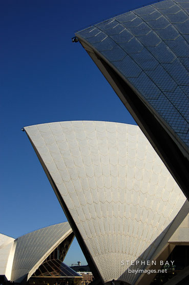 Shells of the Sydney opera house, New South Wales, Australia.