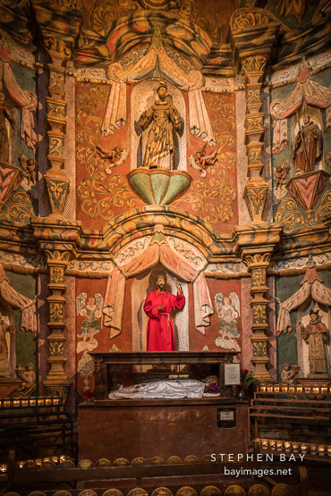 West transept of Mission San Xavier Del Bac, Tucson Arizona.