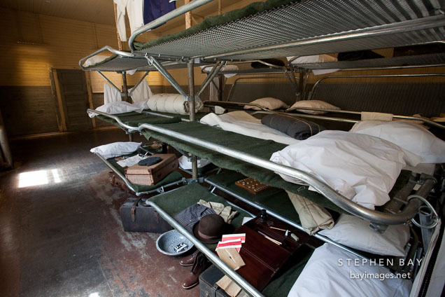 Bunk beds. Angel Island Immigration Station, California.