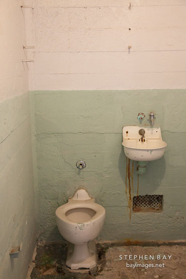 Toilet and sink in cell. Alcatraz, California.