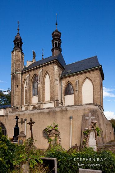 Roman Catholic chapel containing the Sedlec ossuary. Kutna Hora, Czech Republic.