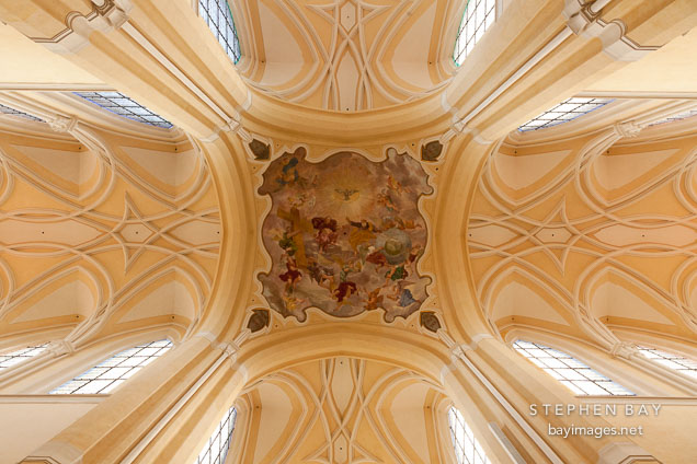 Ceiling of the Cathedral of the Assumption of our Lady. Sedlec, Czech Republic.