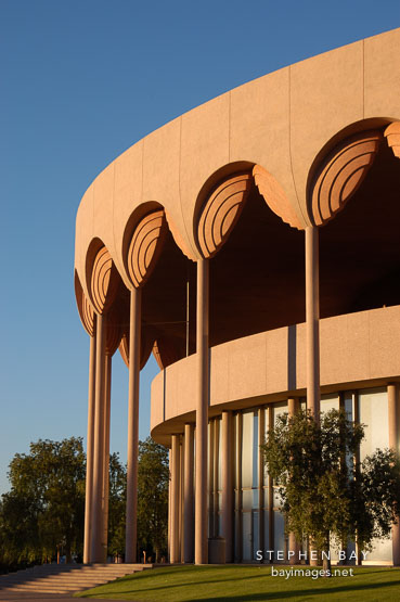 Grady Gammage Memorial Auditorium (Arizona State University) designed by Frank Lloyd Wright. Tempe, Arizona.