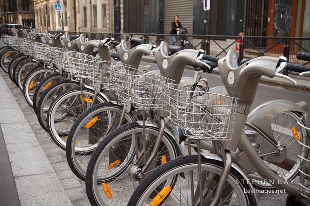 photo velib bike rental in paris france. Black Bedroom Furniture Sets. Home Design Ideas