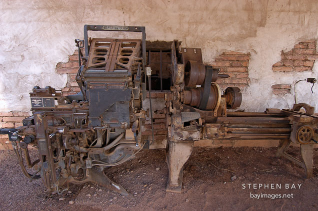 Linotype model 31. Goldfield, Phoenix, Arizona, USA.