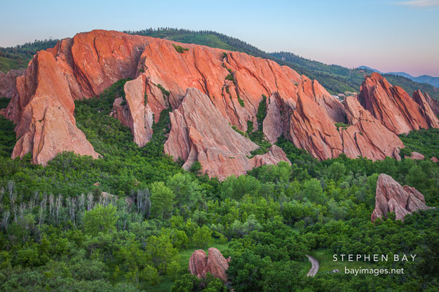 Rock formations at Roxborough State Park, Colorado.