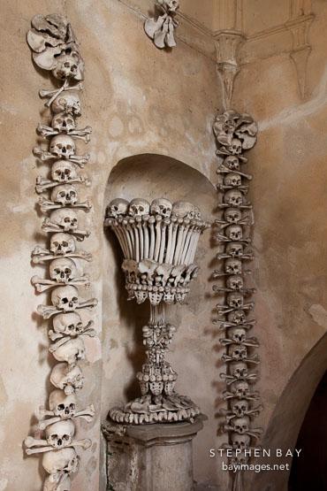 Bone chalice. Sedlec, Czech Republic.