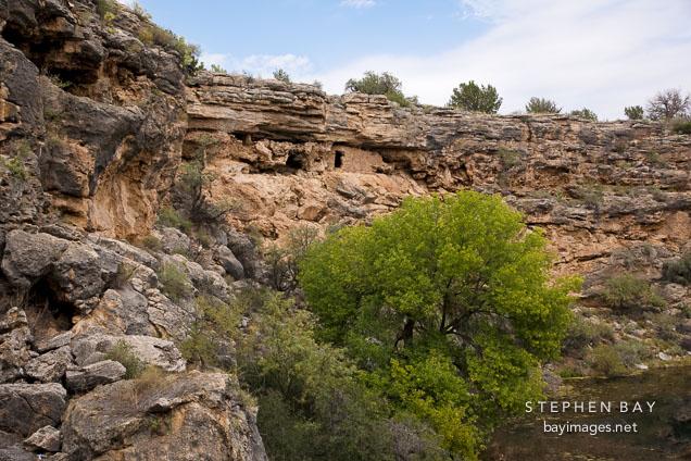 Cliff homes. Montezuma Well, Arizona.