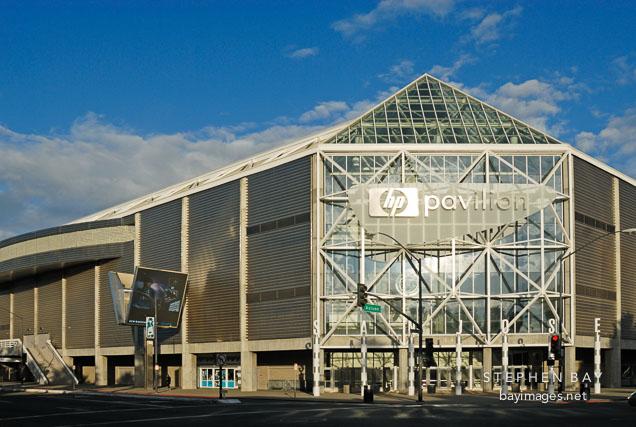 Early morning at the HP Pavilion (San Jose Arena). San Jose, California, U.S.A.