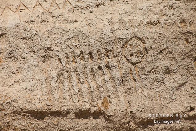 Zoomorphic petroglyph. Petroglyph Point, California.