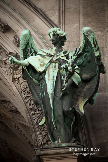 Angel at the Berlin Cathedral. Berlin, Germany.