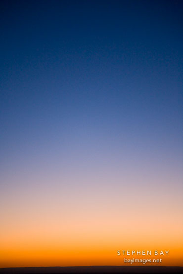 Orange Glow On The Horizon Melds Into Blue Sky Grand Canyon Np Arizona