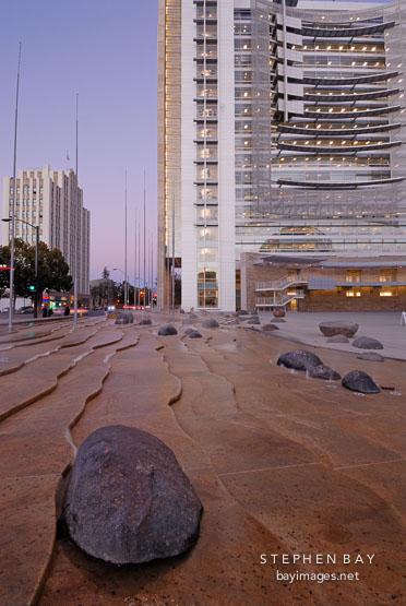 Waterscape. San Jose City Hall, San Jose, California, U.S.A.