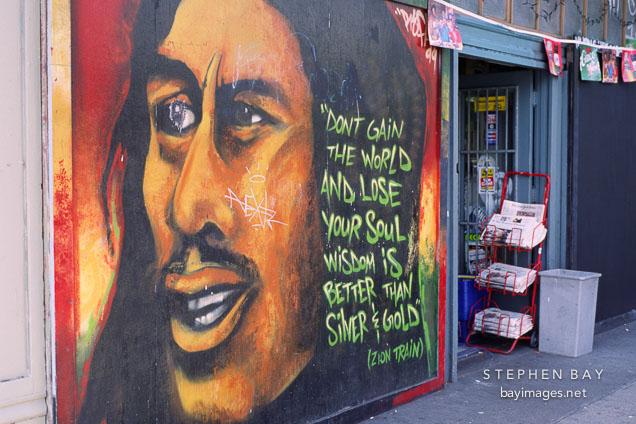 Photo mural and store haight ashbury san francisco for Bob marley mural san francisco