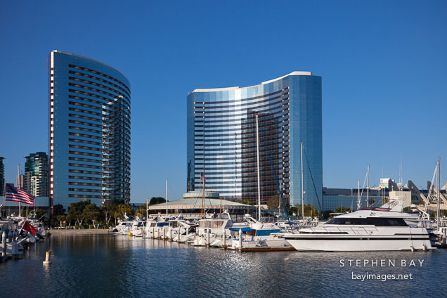 San Diego Marriot Hotel and marina.