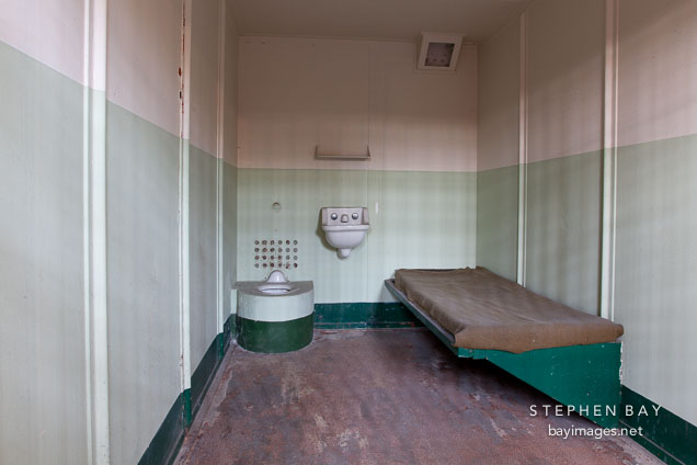 Alcatraz isolation cell.
