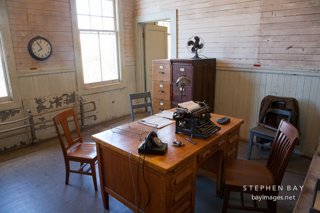 Office in the detection barracks. Angel Island Immigration Station.