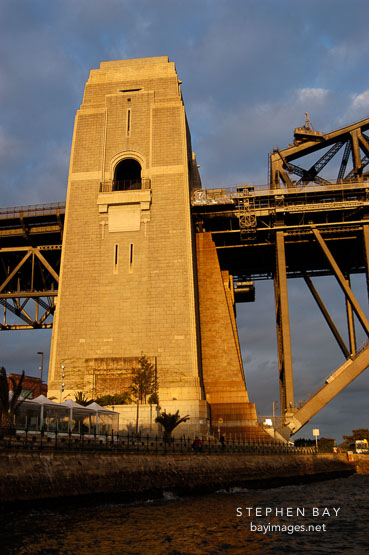 Support tower for the Sydney Harbour bridge. Sydney, New South Wales, Australia.