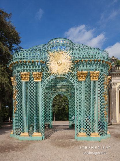 Gazebo at Sanssoucci Palace. Potsdam, Germany.