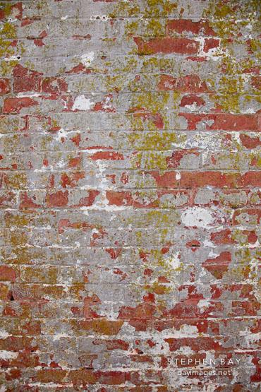 Old wall at Alcatraz.