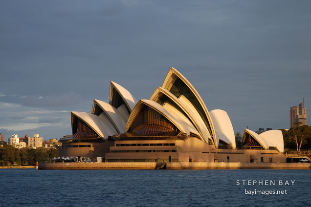 Sydney opera house viewed from the harbour. Sydney, New South Wales, Australia.