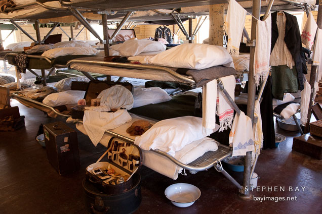 Women's bunk beds in the detention center. Angel Island Immigration Station.