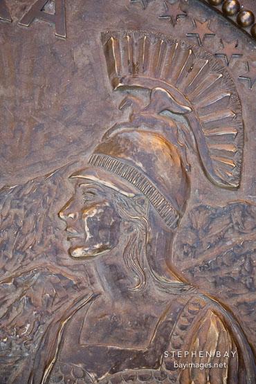Athena on the Seal of California. San Jose, California