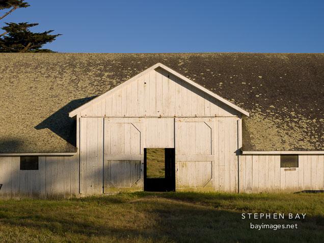 Pierce Ranch hay barn. Point Reyes, California.