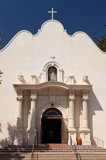 Front of the church of the Immaculate Conception. San Diego.