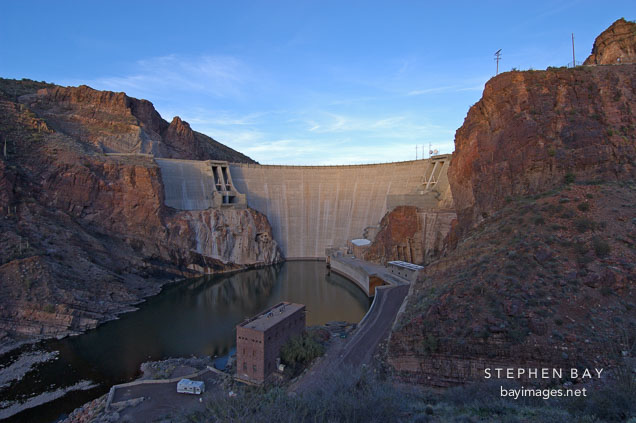Theodore Roosevelt Dam. Apache Trail, Arizona, USA.