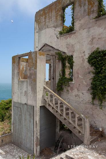 Ruins of the Warden's house on Alcatraz Island.