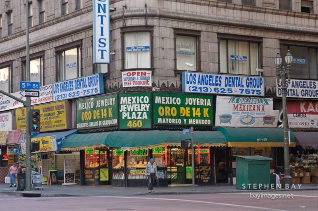 5f0a22b8cd0 Photo  Stores in downtown Los Angeles. California