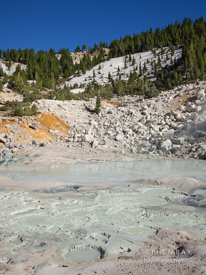 Mud pool in Bumpass Hell. Lassen NP, California.