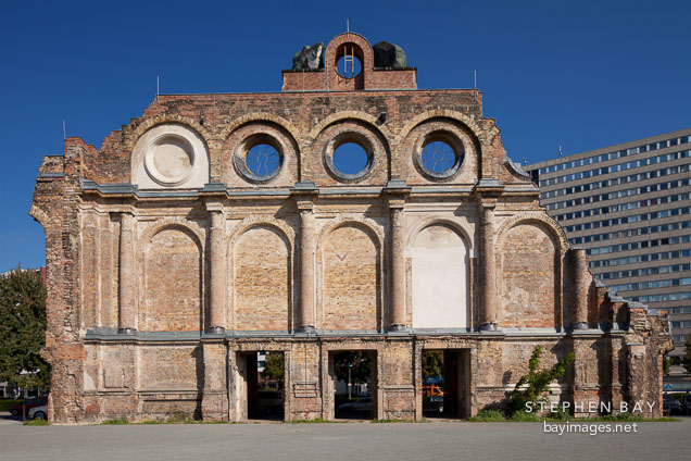 Surviving facade of the Anhalter Bahnhof. Berlin, Germany.