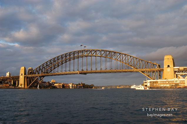 Sydney Harbour bridge, late afternoon. Sydney, Australia.