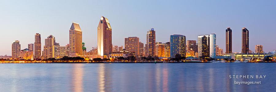 San Diego skyline.