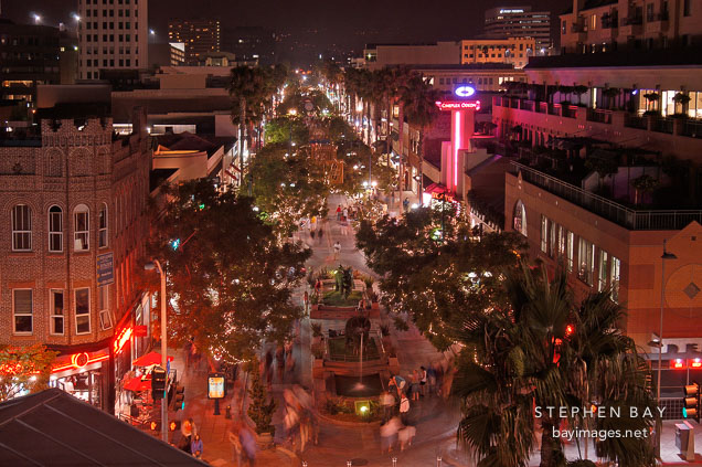 Third Street Promenade viewed from above. Santa Monica, California, USA.