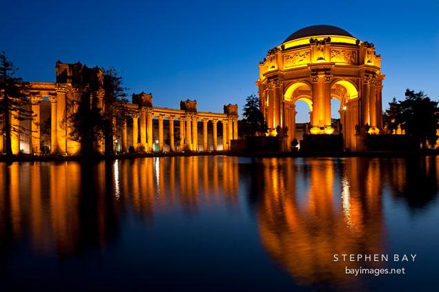 Photo Night At The Palace Of Fine Arts San Francisco California