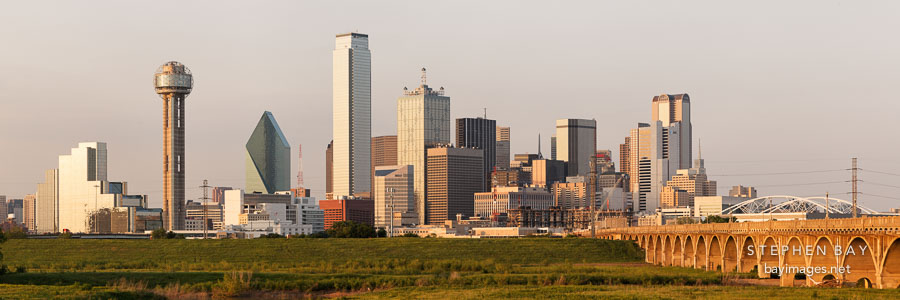 Dallas skyline in the late afternoon.