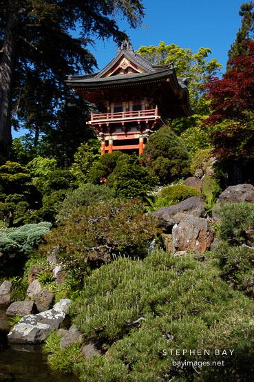 Photo Japanese Tea Garden And Pagoda Golden Gate Park San Francisco California Usa