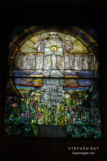 Stained glass. Wade Memorial Chapel, Lake View Cemetery, Cleveland, Ohio, USA