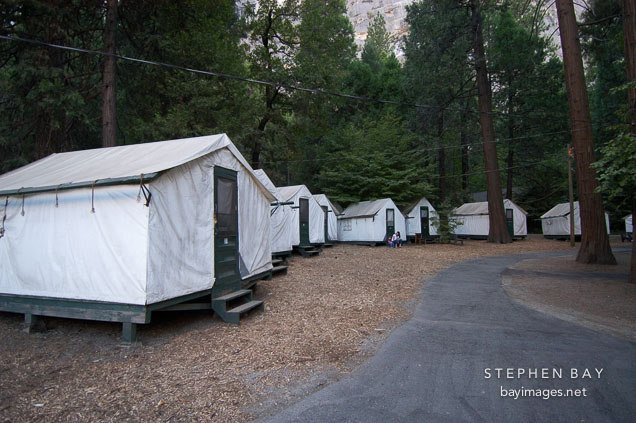 photo tent cabins at camp curry yosemite national park