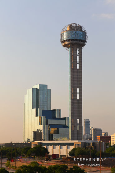 Reunion Tower and the Hyatt Regency Dallas.