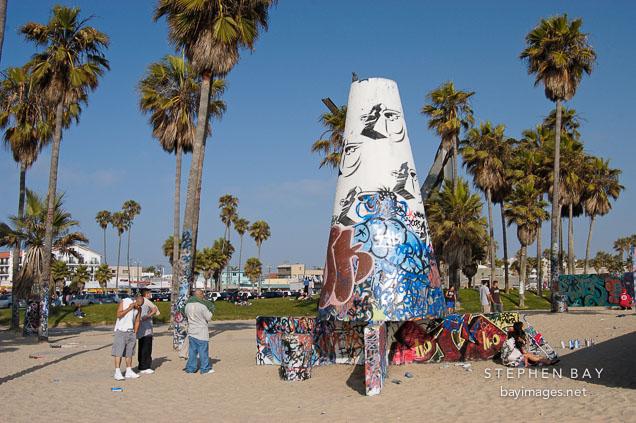 Photo: Venice public art wall. Venice, California, USA.