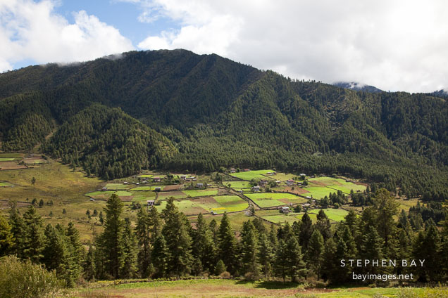 Beautiful Phobjikha Valley, Bhutan.