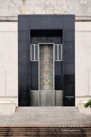 Front entrance to the Masonic Temple. Dallas, Texas.